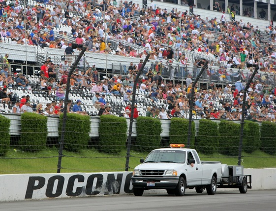 Some drivers think that Pocono should dry up and blow away when it comes to scheduling for 2010.  (Photo by Doug Pensinger/Getty Images)