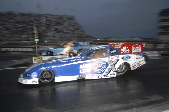 Robert Hight was fast Friday night at Indy. (NHRA photo)