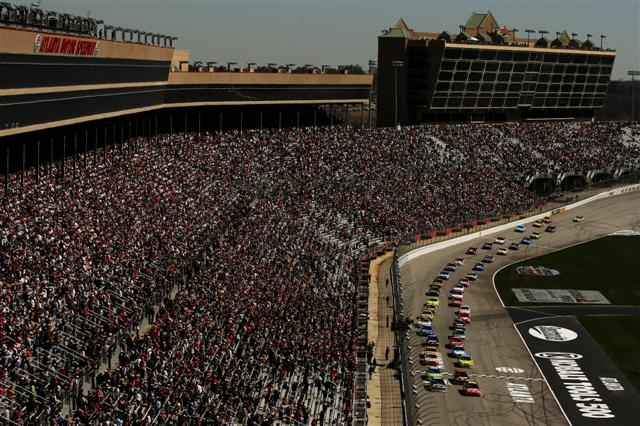 Racing under the lights may change the nature of Atlanta Motor Speedway. (NASCAR file photo)