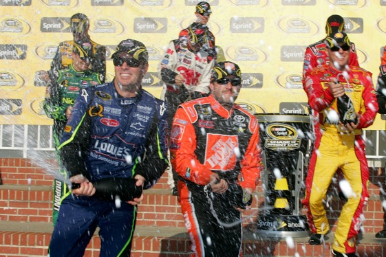 The race to the Chase has become as much fun, and as much fun to celebrate, as the Chase to the Cup. (Photo by Todd Warshaw/Getty Images for NASCAR)