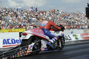 Hector Arana Sr. says a bump in the Maple Grove track has been a problem. (Photo courtesy of the NHRA)