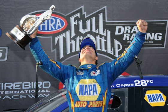 Funny Car driver Ron Capps was one of those caught off guard by the NHRA's decision to change the point structure.