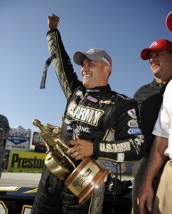 Tony Schumacher won the Top Fuel race at the Fall Nationals in Texas on Sunday. (Photo courtesy of the NHRA)