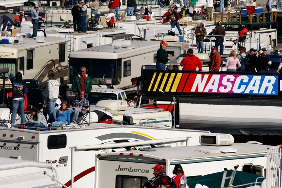 Racing at Atlanta Motor Speedway still makes for a lot of happy campers. (Photo by Chris Graythen/Getty Images for NASCAR)