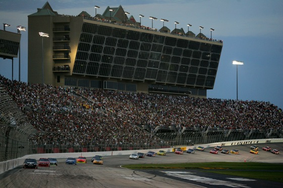 Night time proved to be the right time to hold a Sprint Cup race in Atlanta.  (Photo by Todd Warshaw/Getty Images) 