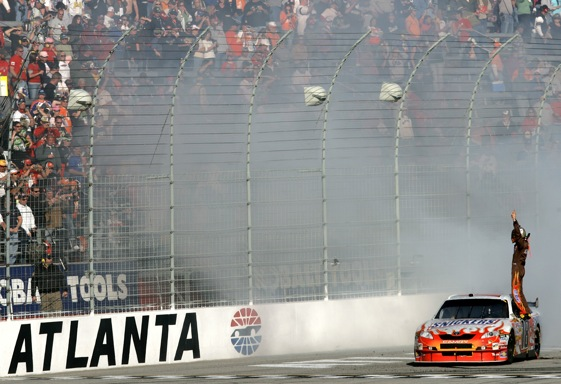 Race day at Atlanta can be something to stand and cheer about. (Photo by Chris Trotman/Getty Images for NASCAR)