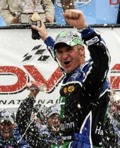 Clint Bowyer captured the Nationwide victory at Dover on Sunday. (Photo by Jeff Zelevansky/Getty Images for NASCAR)