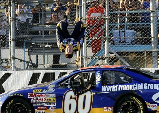 Carl Edwards could win Sprint Cup championship without doing a single back flip.  (Photo by Jason Smith/Getty Images for NASCAR)