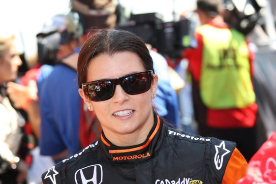 Danica Patrick was a hot topic on her return to the scene of her only IndyCar victory. (Photo by Ron McQueeney of the IRL)