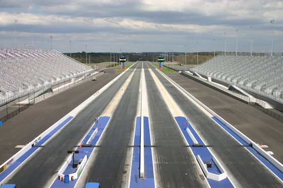 All four lanes at zMAX Dragway were put to use in an exhibition race on Sunday. (Photo courtesy of Adrian Parker)