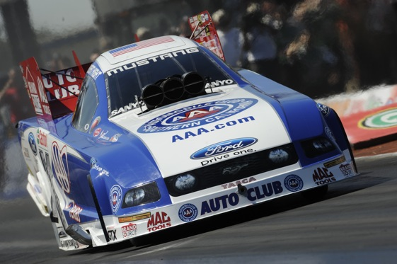 Robert High will take on an import driver in Sunday's Fall Nationals eliminations. (Photo courtesy of the NHRA)