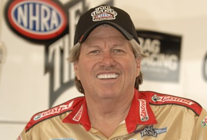 John Force will be part of the four-wide drag racing exhibition Sunday afternoon at zMAX Dragway.