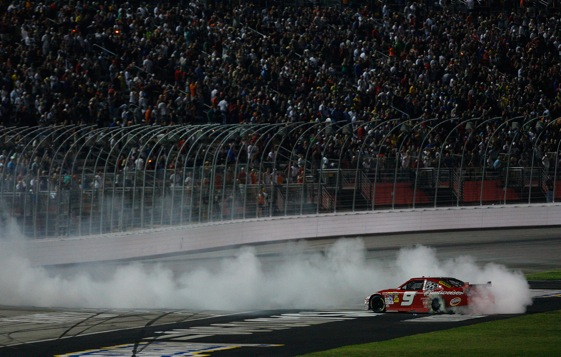 Kasey Kahne and Richard Petty Racing smoked the field at Atlanta Sunday night. (Photo by Kevin C. Cox/Getty Images)