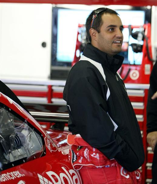 Juan Pablo Montoya was fast and focused all weekend. (Elsa/Getty Images for NASCAR)