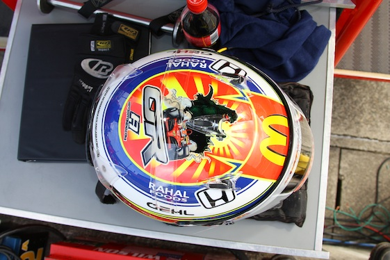 The helmet which Graham Rahal is using this weekend in Japan. (Photo courtesy of the Indy Racing League)