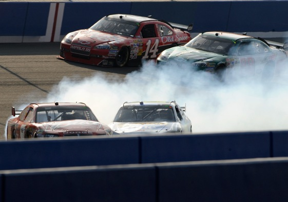 Dale Earnhardt Jr. had yet another bad day on Sunday at Auto Club Speedway.   (Photo by Rusty Jarrett/Getty Images for NASCAR)