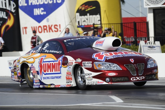 Pro Stock driver Greg Anderson appears to be back in a groove. (File photo courtesy the NHRA)