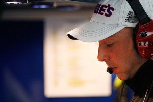 Chad Knaus stands ready to bench sluggish pit crew members. (Photo courtesy of NASCAR)