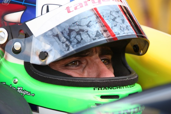 Dario Franchitti won the pole for Sunday's race at Homestead-Miami Speedway. (Photo courtesy the Indy Racing League)