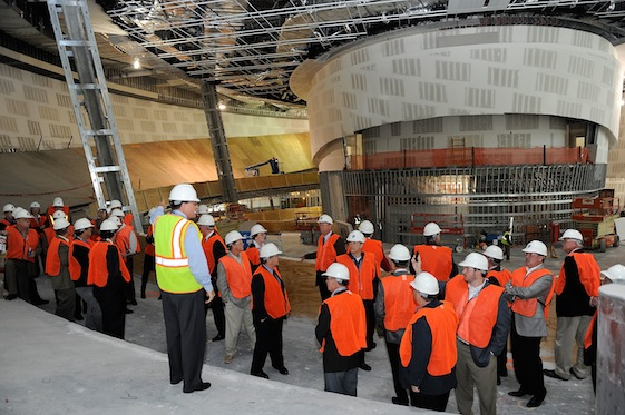 Construction is well under way at the NASCAR Hall of Fame. On Wednesday, the first class was elected and the debate heated up. Photo by Rusty Jarrett/Getty Images for NASCAR)