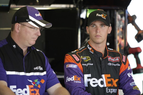 Denny Hamlin is still steamed at Brad Keselowski more than two weeks after their incident at Dover. (Photo courtesy of NASCAR)
