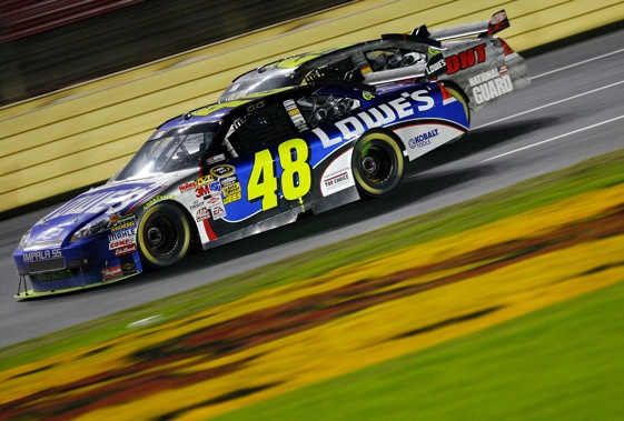 Jimmie Johnson is a superstar without a rival, is teammate says. (Photo by Geoff Burke/Getty Images for NASCAR)