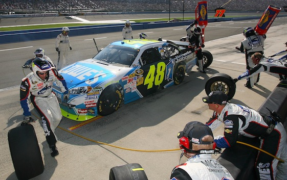 Jimmie Johnson's pit crew has survived some big changes. (File photo courtesy of NASCAR)