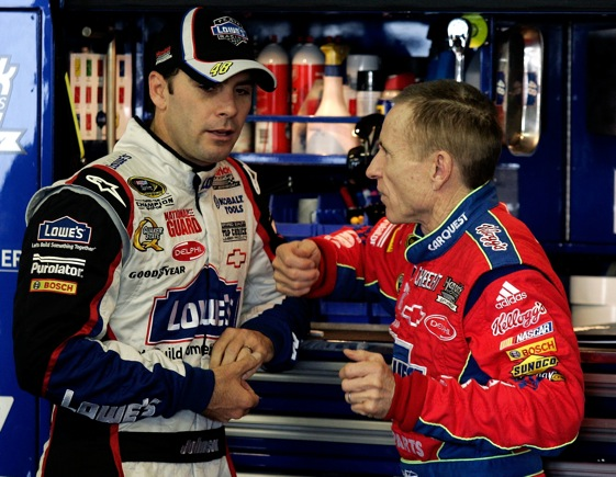 The 2009 Chase is endanger of becoming the Jimmie and Mark Show. (Photo by Jason Smith/Getty Images for NASCAR)