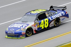 Jimmie Johnson says his October weekend in 2009 at Talladega was perfect. (Photo by John Harrelson/Getty Images for NASCAR)