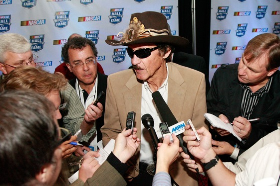 It is doubtful that Richard Petty will pull a Michael Jordan at next spring's NASCAR Hall of Fame induction. (Photo by John Harrelson/Getty Images for NASCAR)