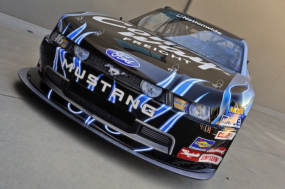 The Roush Fenway Racing 2010 Nationwide Mustang. (Autostock photo by Czobat)