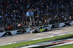 Jeff Gordon broke on through at Texas during the spring race. (Photo by Todd Warshaw/Getty Images)