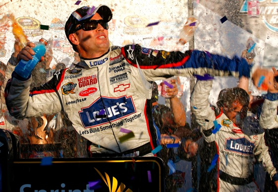 Jimmie Johnson has shut down the show. (Photo by Jason Smith/Getty Images for NASCAR)