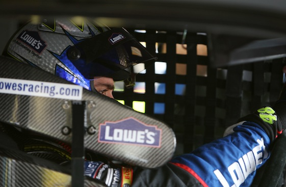 Jimmie Johnson had an easy day in his office at Phoenix on Sunday. (Photo courtesy of NASCAR)