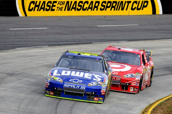 Jimmie Johnson is leading the Chase to an anti-climactic conclusion.  (Photo by John Harrelson/Getty Images)