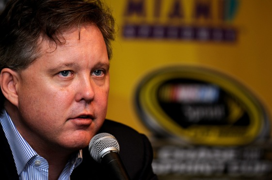 Brian France talked racing with the media at Homestead on Friday. (Photo by Rusty Jarrett/Getty Images for NASCAR)