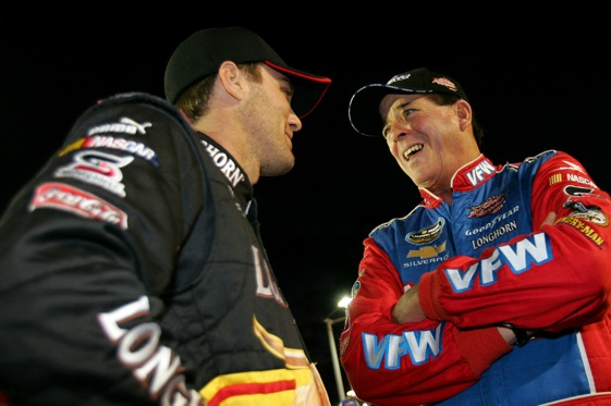 Kevin Harvick and Ron Hornaday came up big winners Friday in Arizona.  (Photo by Todd Warshaw/Getty Images for NASCAR)