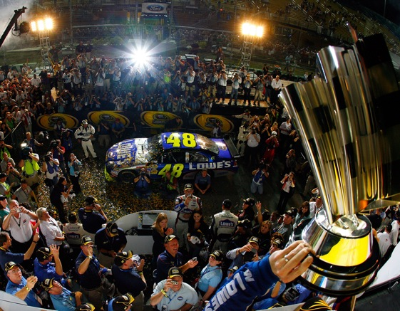 A historic Victory Lane celebration at Homestead-Miami Speedway. (Photo by Rusty Jarrett/Getty Images for NASCAR)