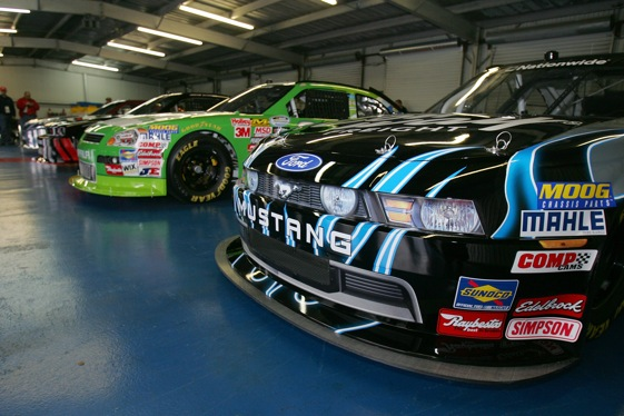 The 2010 Nationwide Series cars took to the track at Talladega Monday for a test session.  (Photo by Todd Warshaw/Getty Images for NASCAR)