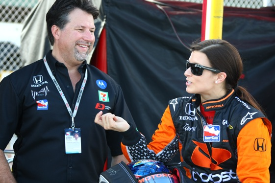 Danica Patrick is committed to racing for Michael Andretti in IndyCar, but she continues to flirt with stock cars. (Photo courtesy of the IndyCar Series)