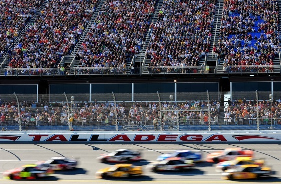 When things got boring at Talladega last month, TV commentators told it like it was and like they should have. (Photo by Rusty Jarrett/Getty Images for NASCAR)
