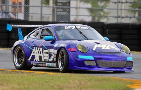 Bobby Labonte turned practice laps at Daytona on Tuesday in a Porsche 911 Grand-Am car. (Photo courtesy the Grand Am-Series)
