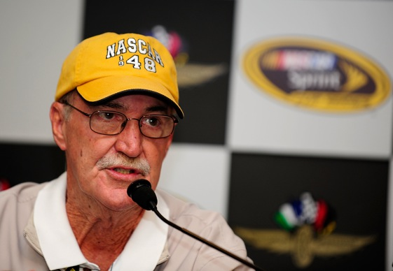 Jim Hunter has been fighting for NASCAR fans for a lot of decades. (Photo by Rusty Jarrett/Getty Images for NASCAR)