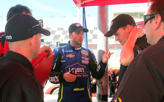 It's all about the challenge, Jimmie Johnson said of entering Rolex 24 at Daytona next month. (File photo courtesy of NASCAR)