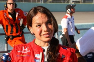 Milka Duno's career has been full of challenges. Now she would take on one more. (Photo courtesy of the IndyCar Series)