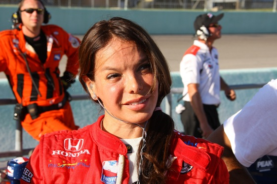 Milka Duno is following Danica Patrick to stock cars. Could she lead Danica to the podium?. (Photo courtesy of the IndyCar Series)