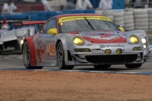 The Flying Lizards are returning to the Rolex Daytona 24. (Photo courtesy of the ALMS)