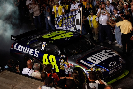 Is there any doubt about which story was the biggest in racing in 2009? (Photo by Chris Graythen/Getty Images)