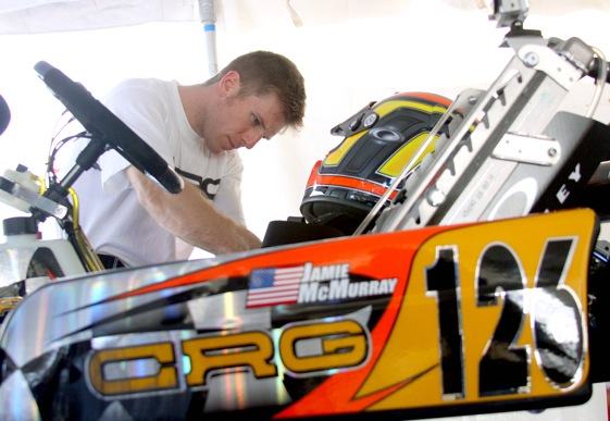 Jamie McMurray will take his go-kart skills to Orlando this week to drive in the all-star race at the PPI Show. (File photo courtesy of NASCAR)