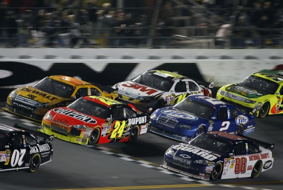 The COTs are back for another year and the debate rages on whether that is a good thing.  (Photo by Geoff Burke/Getty Images for NASCAR)